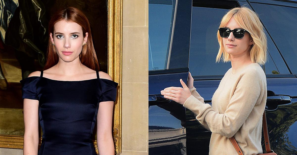 Los cambios de look más impactantes de 2016 : Emma Roberts