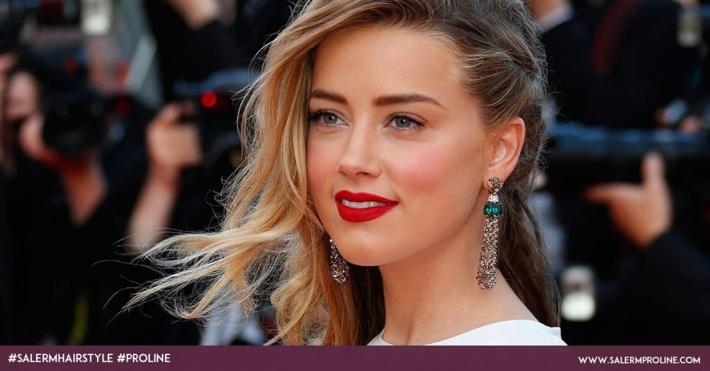 Trenzas de lado Amber Heard