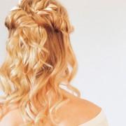 Peinados para Navidad : semirecogido romántico