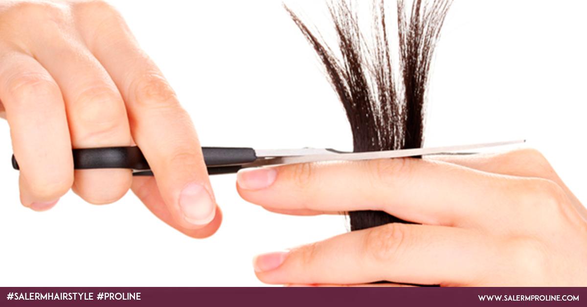 recorta las puntas para el crecimiento del cabello